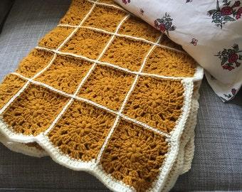 Crochet Baby Blanket, Crochet Blanket, Crochet Granny Squares Blanket,  Crochet Lap Blanket, Throw Blanket, Gender Neutral Baby Blanket