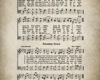 There Is A Fountain Hymn Print - Sheet Music Art - Hymn Art - Hymnal Sheet - Home Decor - Music Sheet - Print - #HYMN-P-012