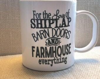Shiplap mug, Farmhouse mug, # Shiplap