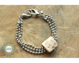 Bracelet with text