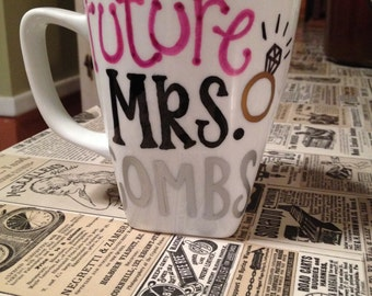 "Personalized Mug for Bride-to-Be ""Future Mrs. ______"""