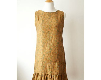 vintage 60s cotton shift dress size x-small