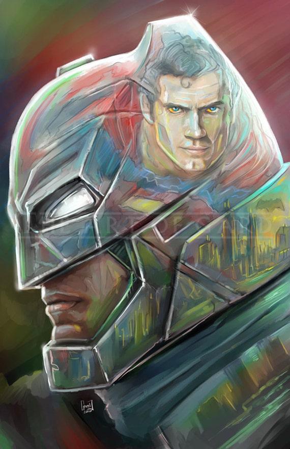 Men of Steel (Batman vs. Superman) 11X17 High Quality Artist's Print