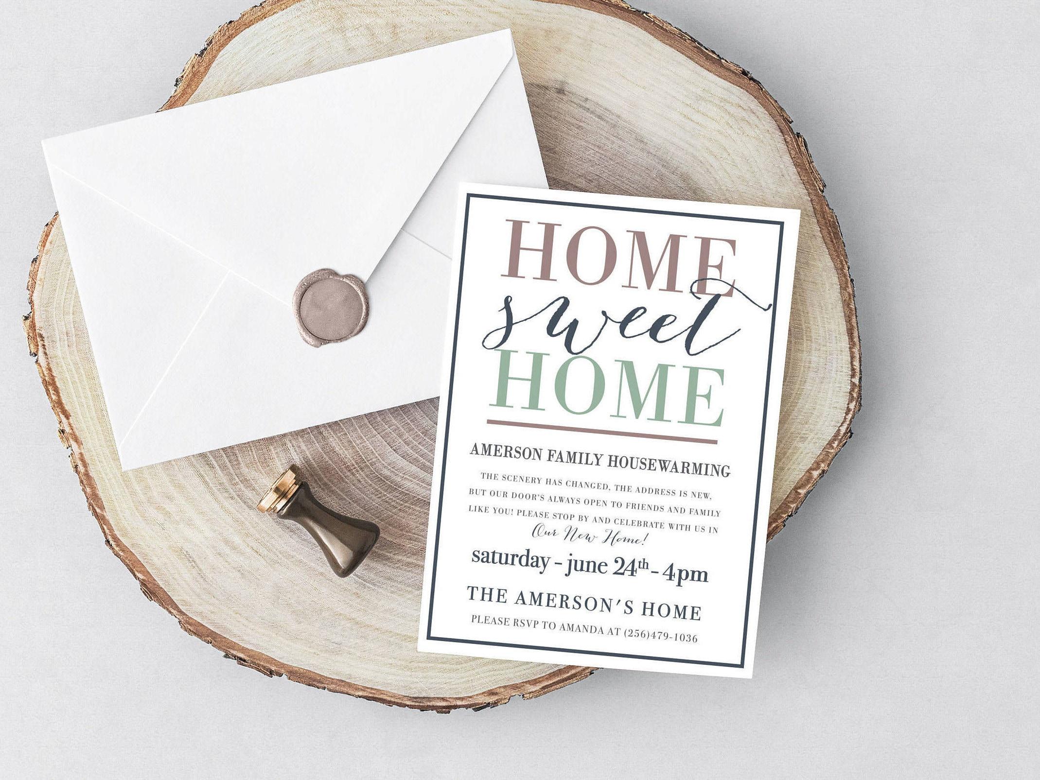 Housewarming invitation housewarming printable invite home zoom stopboris Choice Image