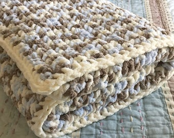 Soft Chunky Baby Blanket - Customizable