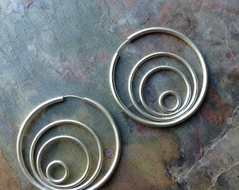 Simply Silver - Orbit Hoops