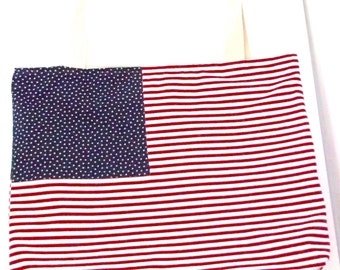 USA Flag tote, Flag bag, Canvas Tote, Bags and Purses, 2016, Travel tote, Beach bag, Extra large bag, Strong Tote,