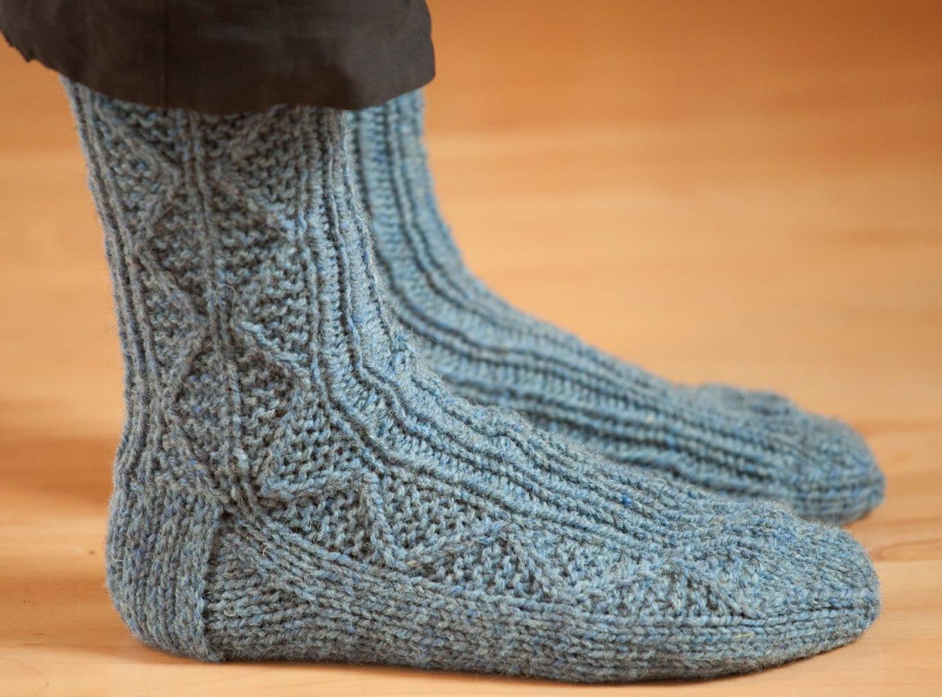 Sock Knitting Pattern PDF, Knitted Socks Pattern, Knit Socks ...