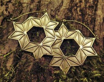 The Multiverse Portal Brass Earrings
