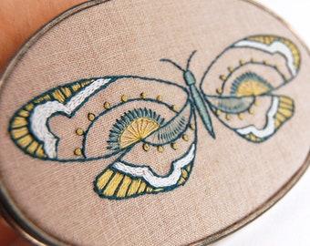 Modern Hand Embroidery Patterns KALEIDOSCOPE Butterfly Embroidery Pattern Set, Hand Embroidery designs, Modern Butterflies, Spring Patterns