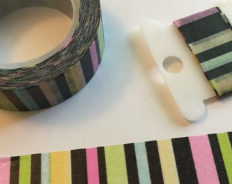 Bright stripe Washi Sample