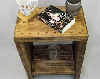 Side table  - Wooden coffee table - Chunky side table  - End table - Bedside cabinet - storage