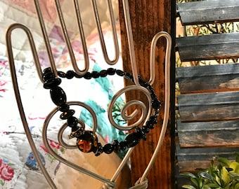Black Hand Beaded Bracelet Stackers