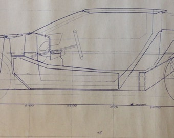 Delorean blueprint etsy delorean sale price reduction pre production blueprint 1975 john z delorean creative industries delorean dmc malvernweather Images