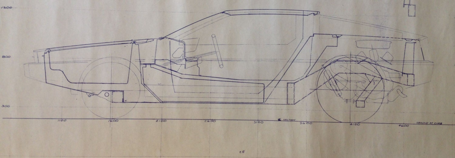 Delorean sale price reduction pre production blueprint 1975 zoom malvernweather Gallery