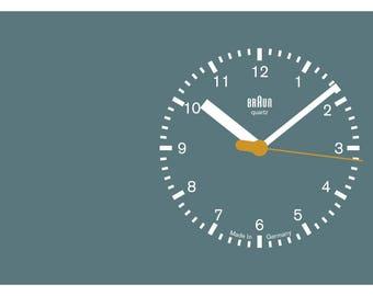 Braun ABW21 Clock Face Abstract fine art giclée print