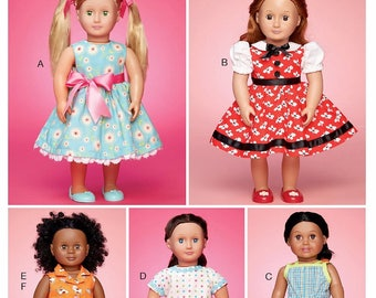 McCall's 18 inch Doll Clothes Pattern, 18 inch Doll Dress Pattern, 18 inch Doll Outfits Pattern, McCall's Sewing Pattern 7583