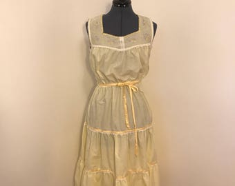 1970s yellow  sun dress