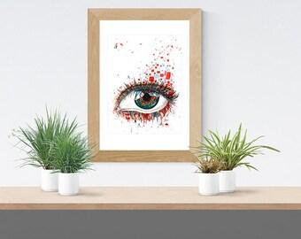 Pixel Eye Original Artwork Watercolor