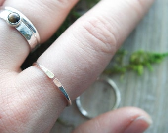 Adjustable Silver Stacking ring | Silver stacking ring | hammered ring | Sterling stacking ring | Unique Stacking ring