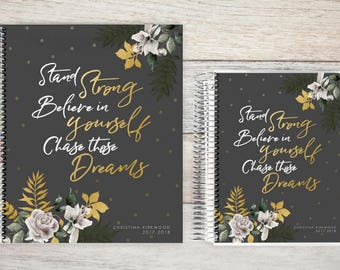Planner | 2018 Planner | Weekly Planner | Hourly Planner | Custom Planner | Personal Planner | Life Planner | Planners |  gold leaves