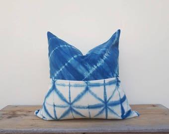 """Indigo pillow cover, pillow cover,tie dye pillow cover 24"""" x 24"""""""