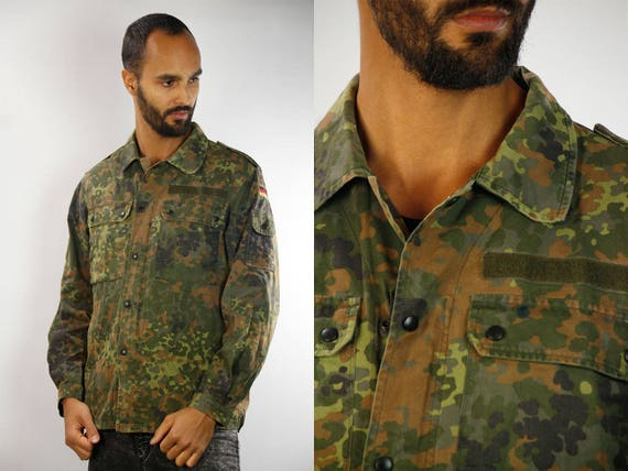 Military Shirt / Camouflage Shirt / Army Shirt Vintage / Vintage Military Shirt / Vintage Camouflage Shirt / Army Shirt Germany / Camo Shirt