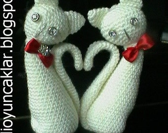 Amigurumi Valentine Cats