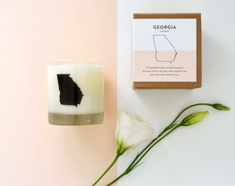 Georgia State Soy Candle Scented Soy Candle Home Candle Hostess Gift Georgia Candle Home State Candle The Original Scripted Fragrance Candle