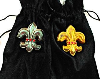 Velvet Lined Velvet Bag with Silken Drawstring - Black Velvet