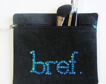 """Turquoise """"Noreen"""" brief case - makeup case"""