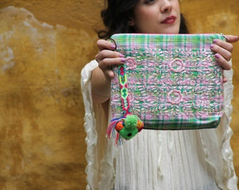 Scarlet O collection Hand embroidered clutch