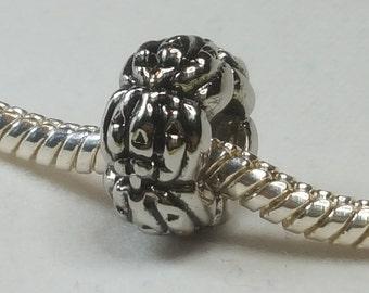 Jack O'Lantern Charm/ Spacer - Halloween Pumpkins - Fits all Designer and European Charm Bracelets*