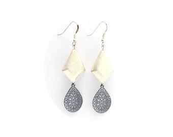 Dangling earrings, jewelry, women gift, woman, Silver 925 Jewelry Accessories, metal, laser cut bead