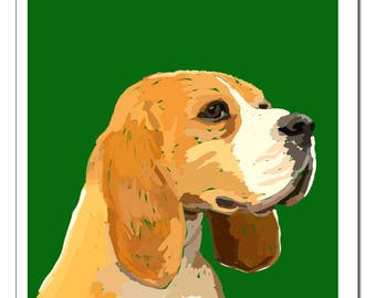 Beagle Print-Pop Art