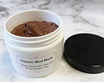Mud mask, face mask, natural face mask, blackhead mask, acne mask, natural skincare, bentonite clay, beauty, rose kaolin clay, facial mud