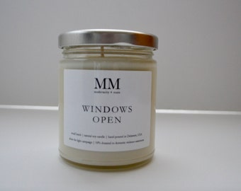 WINDOWS OPEN // natural soy candle // hand-poured // small batch