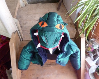 Dinosaur Costume for Kids (age 3yrs to 5yrs) , Recycled Children's Crocodile Hoodie