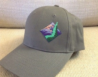 Hand Stitched Mountain Sunset Ball cap