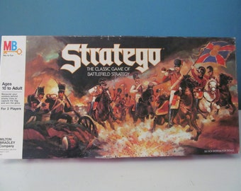 Vintage / Retro 1986 Stratego The Classic Game Of Battlefield Strategy Board Game By Milton Bradley MB