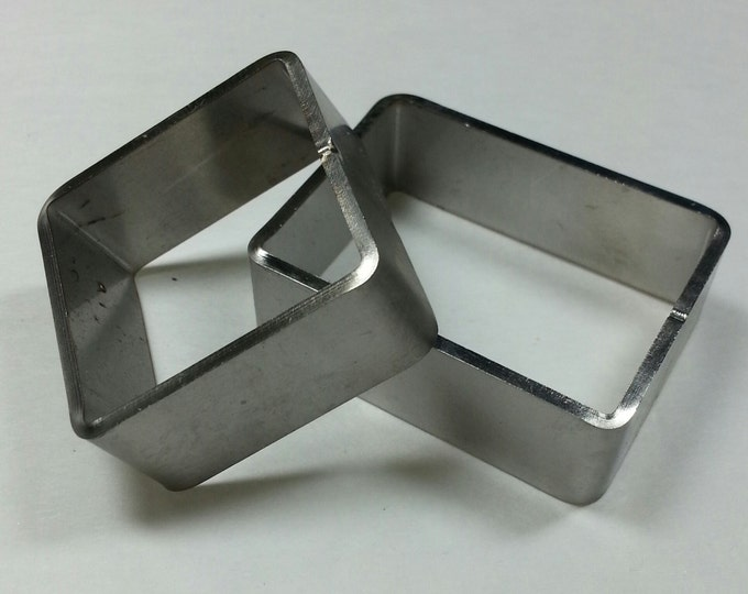 Stainless Mini Square & Rectangle Mold 2 pack #SMSR