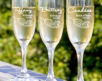 Set of 4 Wedding Toasting Flutes, Personalized Champagne Flutes, Wedding Champagne Glasses, Wedding Champagne Flutes, Wedding Glasses