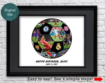 Soccer gifts Soccer party Soccer wedding Soccer ball gift Soccer team gift Soccer art gift Motivational poster Son wall decor Soccer gift