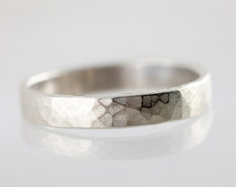 Modern band ring / stack ring