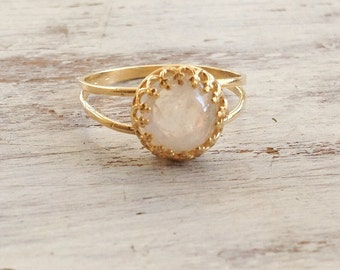 moonstone ring, moonstone ring gold, stacking ring, gemstone ring, moonstone, stacking rings, jewelry - 9011