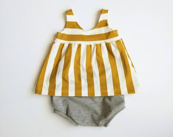 Summer baby outfit, summer outfit, baby girl outfit, sun set