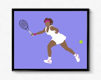 Serena Williams Tennis Poster- Feminist Print, Unique Wall Art