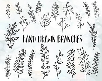 Leaf svg - Branches svg File - Vector Clip Art for Commercial & Personal Use - DIY wedding invitation clipart - ornament svg files for DIY