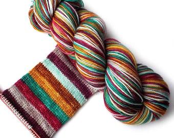 Self Striping MCN Sock Yarn Handdyed Merino Cashmere Nylon Yarn - Go Bold or Go Home
