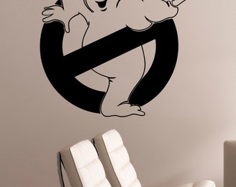 Ghostbusters Sign Window Decal Vinyl Wall Sticker Movie Art Decorations for Home Housewares Kids Living Room Bedroom Decor ghs3